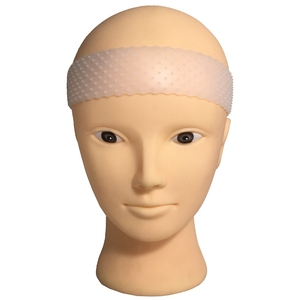 Quality transparent silicone headband for wear wig soft drop-shaped hair band wig grip