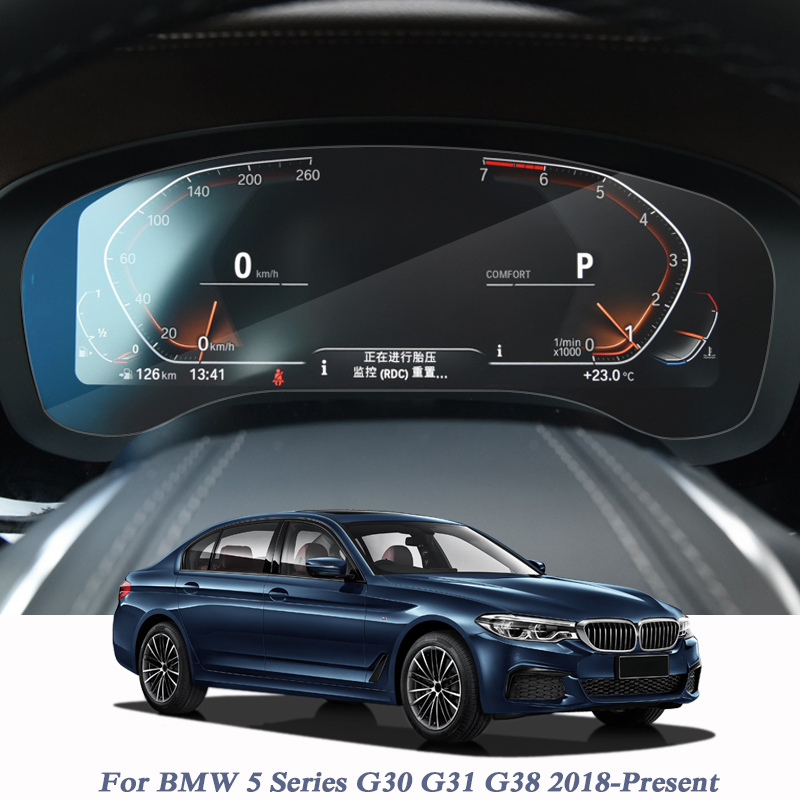 For BMW 5Series G30 G31 G38 2018-Present Car Styling GPS Navigation Screen Glass Film Dashboard TPU Display Film Accessory