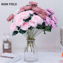 11 Heads Artificial Flowers Home Decor Eternal Rose Silk Wedding For Decorartificial Artificial Pink Flowers Rain Field цена и фото