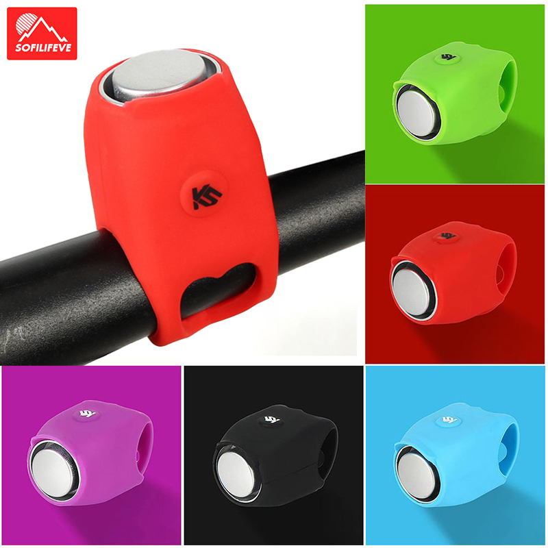 120db Electronic Bicycle Bell Electric Horn Safety 5 Ringtone Handlebar Bell MTB BMX Road Bike Horn Bell Cycling Accessories