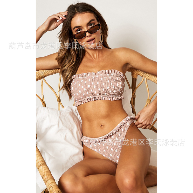 Swimsuit Female Separate Tankini Push Up Teenage Swimwear Swimming Suit Trendy Women's Swimsuits Bikini With High Waist Sea 2019