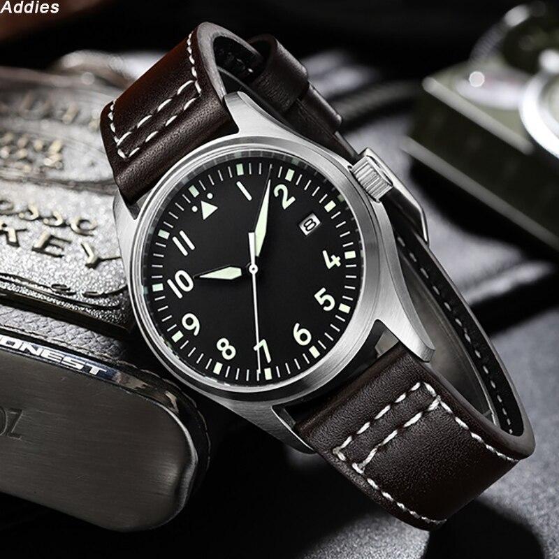 Japón NH35 Pilot Watch automático mecánico Diver reloj C3 Super luminoso hombres relojes zafiro cristal 200m reloj de buceo de lujo - 2