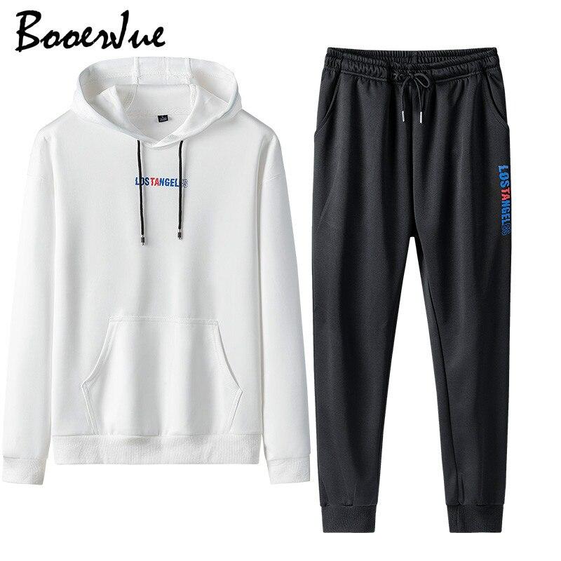 Tracksuit Men Sweat Jacket+Pants Casual Hoodie Sets Sweatshirt Suit Men Ropa Para Hombre Jogger Suits 2 Piece Winter Pant Suit