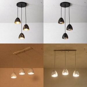 Image 1 - Nowa lampa wisząca Led jadalnia nowoczesna E27 wisiorek oświetlenie do sypialni kawiarnia lampy wiszące Nordic żelaza abażur oświetlenie kuchni