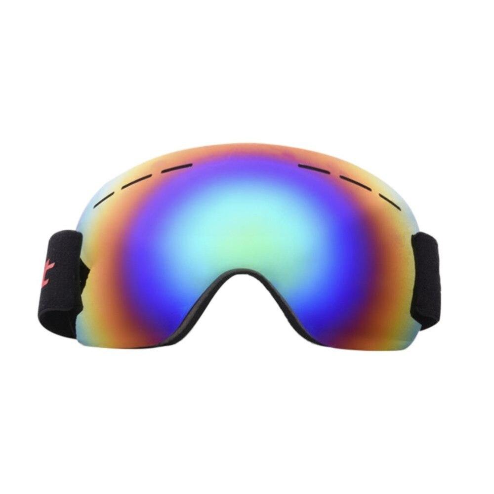 Winter Frameless Ski Snowboard Large Spherical Goggles Men Women Windproof Anti Fog UV Protection With Elastic Head Band Glasses