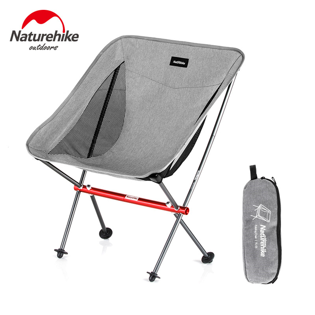Naturehike Fishing Chair Ultralight Portable Folding Camping Chair Foldable Beach Chair Picnic Chair Collapsible Hiking Chair