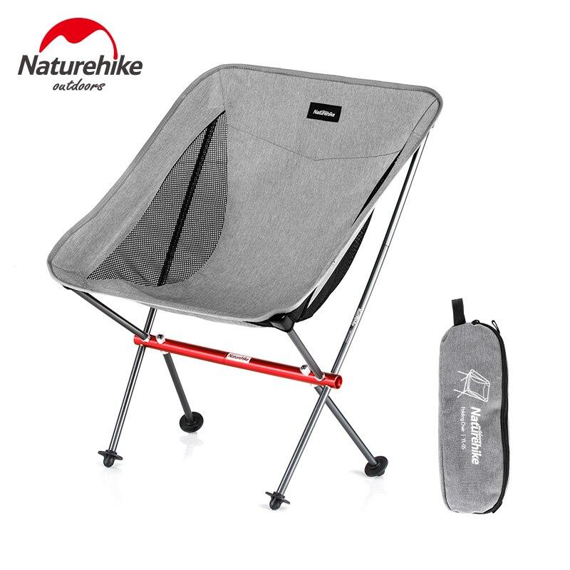 Naturehike Leve Portátil Dobrável Cadeira de Praia Cadeira Dobrar Pesca Picnic Heavy Duty Assento Da Cadeira de Acampamento de Dobramento Ao Ar Livre