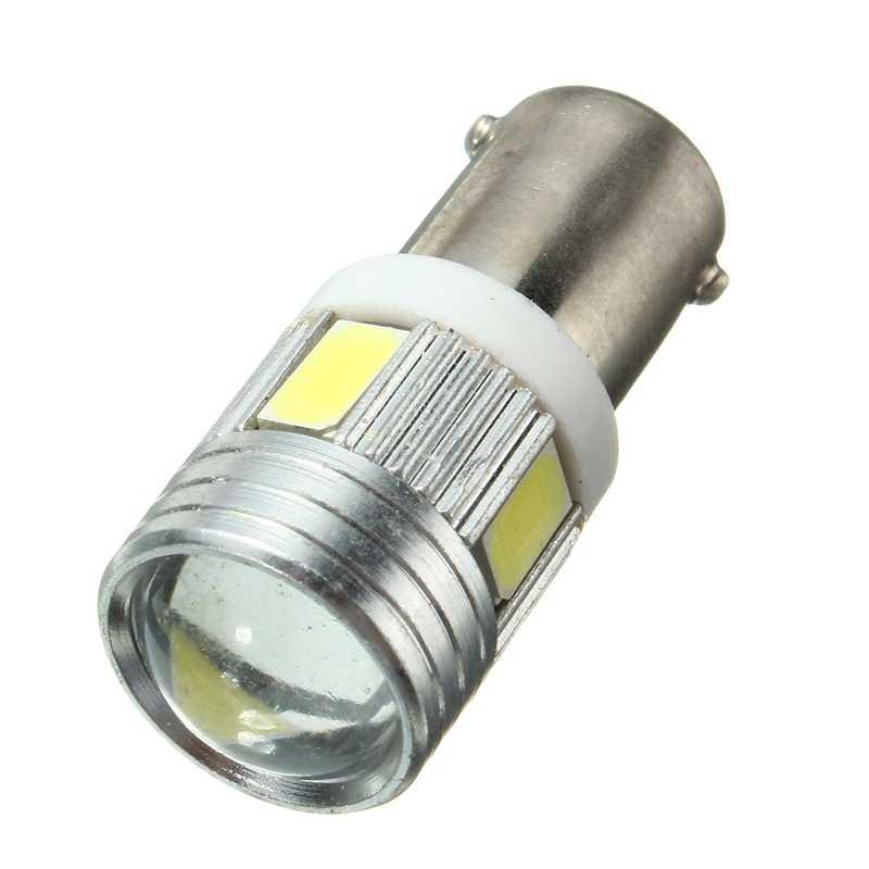 5730 5630 T4W BA9S 120LM 1.2W 6 SMD Lampu Auto LED Super Putih Sisi Interior Ekor Baji Light Bulb 6000 K-6500 K DC12V