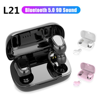 L21TWS słuchawki Bluetooth 5 0 słuchawki douszne słuchawki bezprzewodowe słuchawki douszne podwójne słuchawki douszne dla wszystkich smartfonów Android IOS tanie i dobre opinie lieve CN (pochodzenie)
