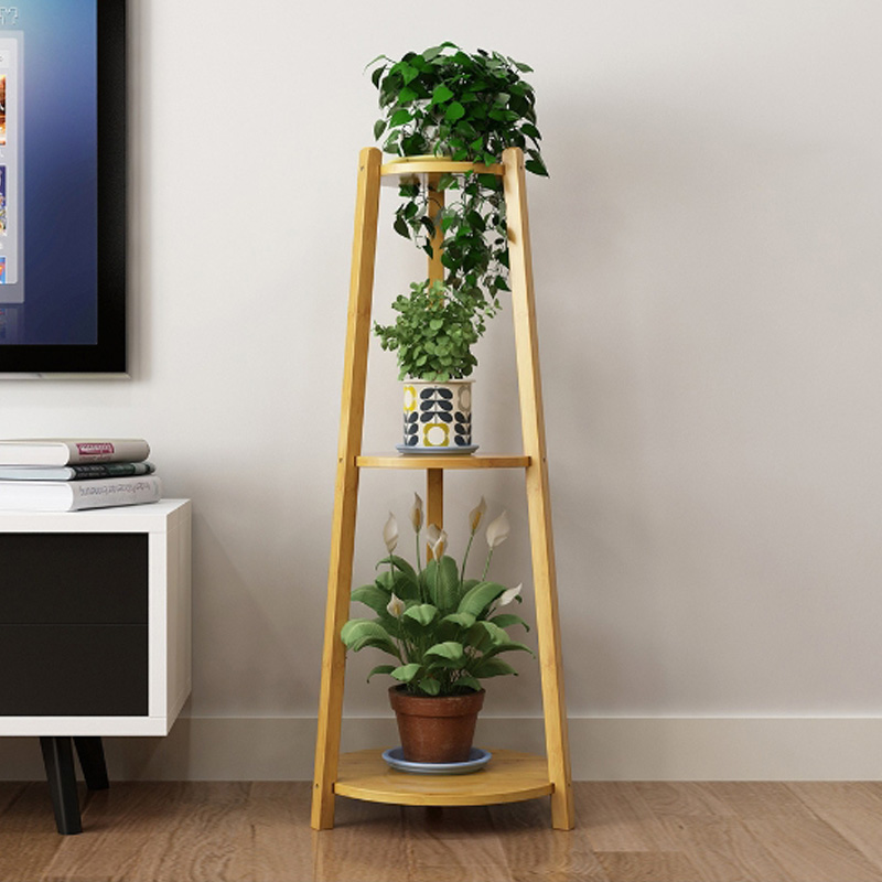 3 Layers Plant Shelf Free Standing  Flower Rack Interior Living Room Balcony Succulent Potted Plant Stand Holder for Home|Plant Shelves| |  - title=