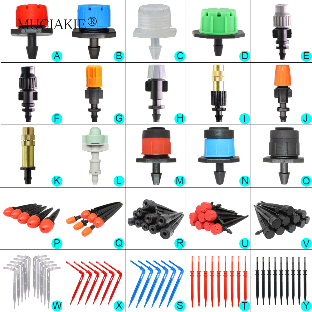 H1f34cab1d98941dfbd11e1d780c880124 MUCIAKIE Variety Style Adjustable Irrigation Sprinkler Garden Emitters Stake Dripper Micro Spray Rotating Nozzle Watering Arrow