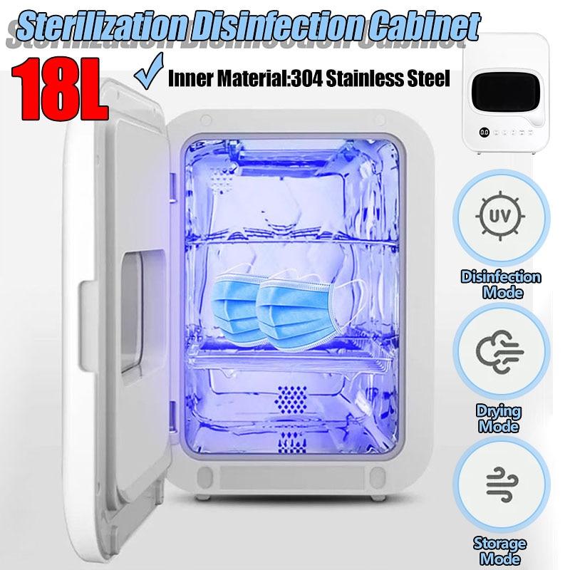 18L Bowl Tableware Toothbrush Baby Bottle Sterilizer Portable Desktop Disinfection Cabinet UV Light Ozone Lamp Sterilization