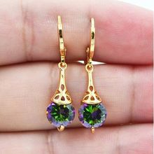Trendy Bohemia Fashion Women Drop Earring Colorful Gold Color Water Party Wedding Gift Top Quality Wholesale