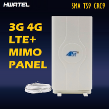3G 4G LTE Mimo Panel Antenna 2* SMA male 2* CRC9 2* TS9 Connector 2 3 5 Meters 700~2600Mhz 88dBi for Router e3372 B315 B890 B310