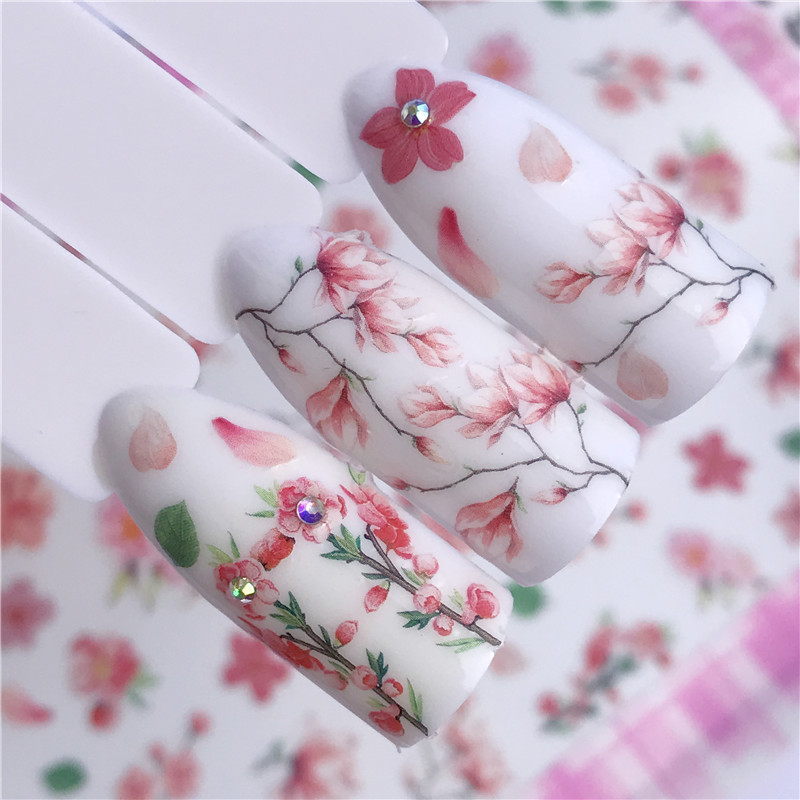 New Products 3D Ultra-Thin Gum Nail Sticker Flower Maple Leaf Animal Nail Sticker Flower Jewelry Straight Connector Adhesive-