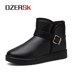 Botas de neve de pele quente botas de neve botas de inverno de inverno quente venda de luxo da marca