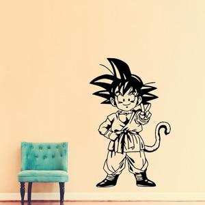 Японская аниме виниловая наклейка на стену для мальчика, детской комнаты, гостиной, спальни, наклейка на стену Wukong, наклейка на стену для малышей|Наклейки на стену|   | АлиЭкспресс