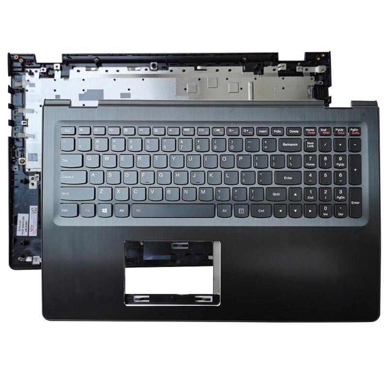Купить с кэшбэком For Lenovo Flex 3 1570 1580 Flex 3 15 Yoga 500-15 500-15ISK 500-15IBD 500-15IHW Laptop Palmrest Upper Case US Keyboard