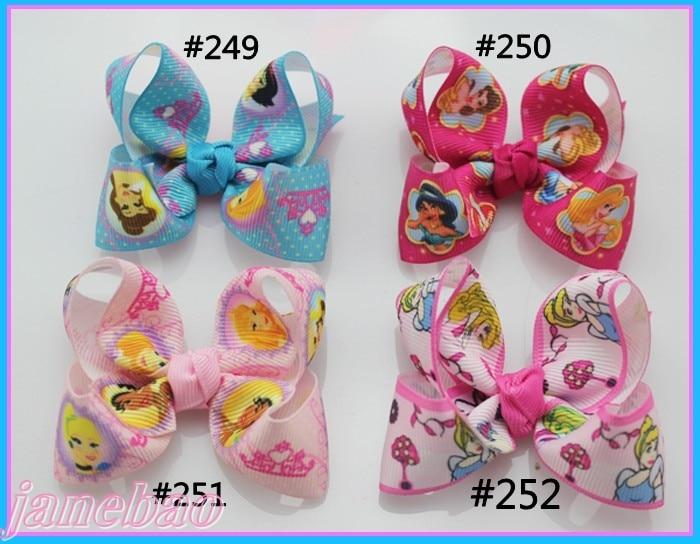 Персонаж лента 80 шт. Разноцветные 3 ''модный бутик заколки для волос для детей ясельного возраста волос бантики, аксессуары для волос