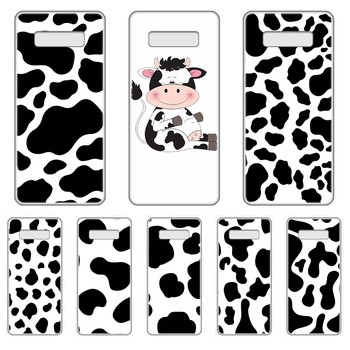 lovely Cow Black and white cover Transparent Phone Case For SamSung Galaxy S 7 8 9 10 11 20 a 20e 50 51 70 71 Plus Edge Ultra image
