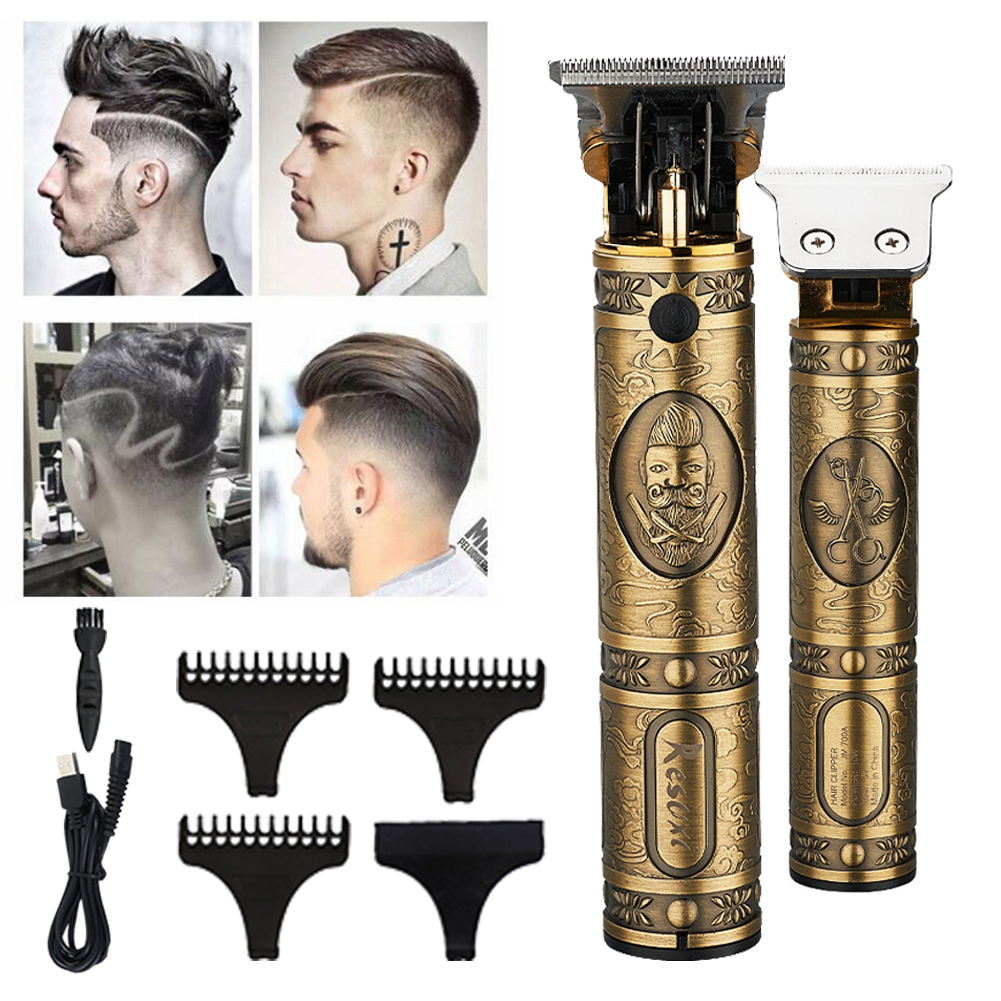 Professional Hair Clippers Barber Haircut Sculpture Cutter Rechargeable Razor Trimmer
