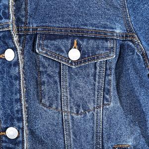 Image 5 - الخريف الشتاء المعتاد المرأة الدنيم سترة اصطناعية شيربا بطانة طويلة الأكمام 100% القطن غسلها الأزرق الإناث معطف للسيدات