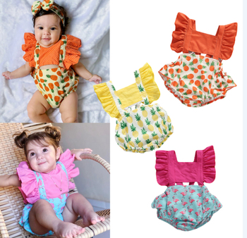 baby girl clothes newborn toddler baby girls rompers lace floral overall outfits sunsuit clothes Newborn Kids Baby Girls Clothes Floral Jumpsuit Casual Ruffle Bodysuit Sunsuit Summer Outfits Set