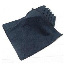 5 adet/takım 30x40cm siyah araç bakım parlatma yıkama havlusu mikrofiber araba detaylandırma temizlik yumuşak bezler havlu araba ev pencere