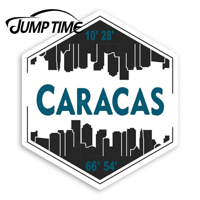 Jump Time Caracas City Vinyl Stickers - Venezuela Travel Sticker LuggageDecal Car Window Bumper Car Accessories