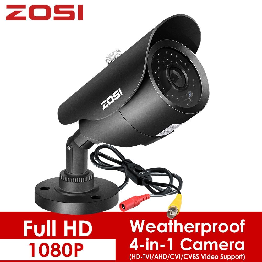 ZOSI 1080P 4-in-1 Outdoor Indoor Video Surveillance Camera HD Weatherproof 100ft Day Night Home CCTV TVI Security Camera