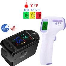 Oxymètre Portable de saturation en oxygène dans le sang, thermomètre auriculaire sans contact à infrarouge pour enfants