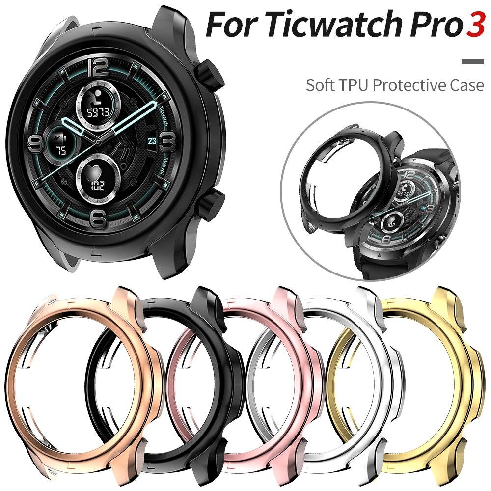 Lichtgewicht Zachte Beschermhoes Voor Ticwatch Pro 3 Horloge Case Tpu Bumper Dunne Mode Smartwatch Shell Accessoires|null|   -