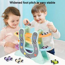 Magic Racing Cars Model Toys For Children Ramp Racer Railway Track With Gliders Little Car Toy For Boys Birthday Kids Gifts(China)