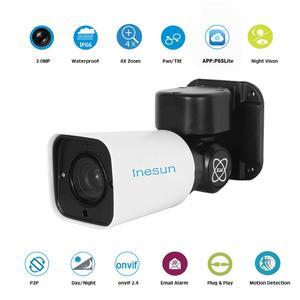 Image 3 - Inesun PoE PTZ IP Security Camera Outdoor 2MP 1080P 4X Optical Zoom PTZ Camera Waterproof 120ft IR Night Vision Motion Detection