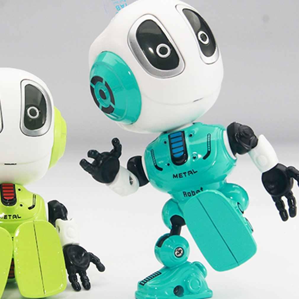 RC Alloy หุ่นยนต์ TOUCH LED ตา Smart Voice DIY Body Multi-ฟังก์ชั่นเพลงของเล่นเด็กของเล่นของขวัญ