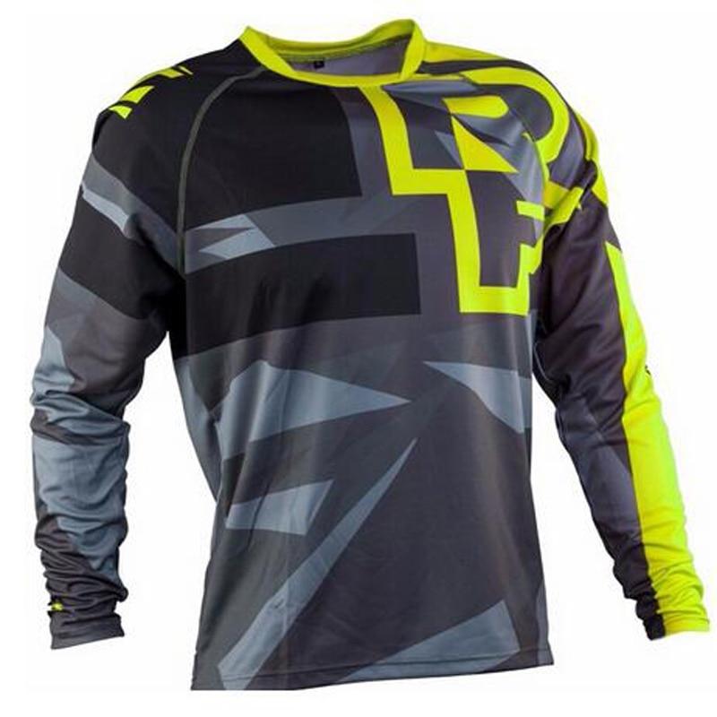 2020 Pria Menurun Kaus Ras Wajah Gunung Sepeda MTB Kemeja Offroad DH Motor Jersey Motocross Pakaian Olah Raga Pakaian Fxr