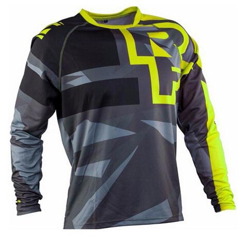 2020 hommes descente maillots course visage VTT vtt chemises tout-terrain DH moto maillot Motocross Sportwear BMX vêtements FXR