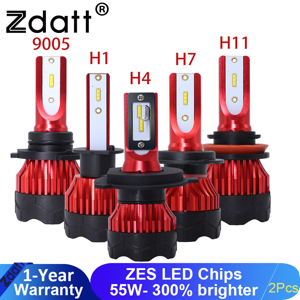 Zdatt H7 LED Headlights H4 H11 H8 Car Headlight H1 9005 HB3 LED <font><b>110W</b></font> 12000LM 6000K 12V Ice Lamp PK for Auto S2 LED automotivo image