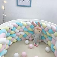 Bumper Crib Pillows-Pad Knotted Nursery 4-Strands Cushion Decor Cradle Newborn-Baby