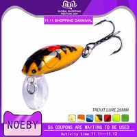NOEBY NBL9159 Schwimmdock Köder Bass Pike Locken Walleye Köder Trout Kunststoff Angeln Wobbler Harte Swimbaits Künstliche Köder 2,8 cm/ 2g