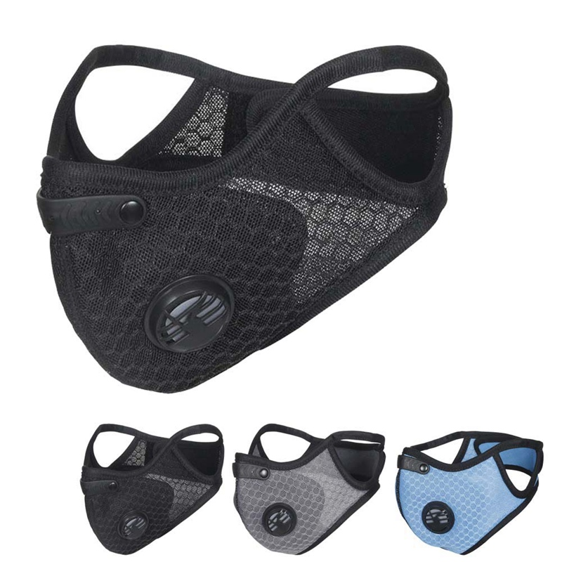 Anti-Dust Mouth Mask Double Valve Cycling Face Mask Dust-proof Mesh Healthy Masks Protection Outdoor Sportswear Accessories