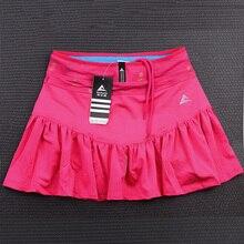 Спортивные штаны на открытом воздухе, Женская быстросохнущая юбка для бега, бадминтона, тенниса, поддельные две короткие юбки с карманом