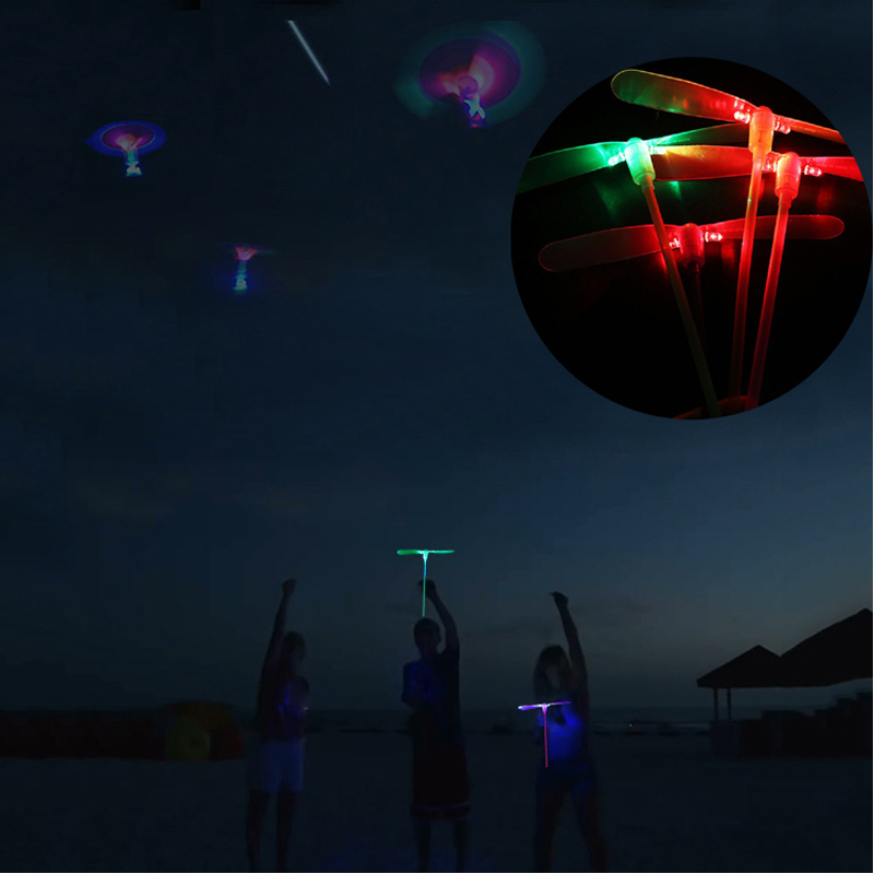 LED Light Up Flashing Dragonfly Glow Flying Dragonfly For Party Toys Kids Gift
