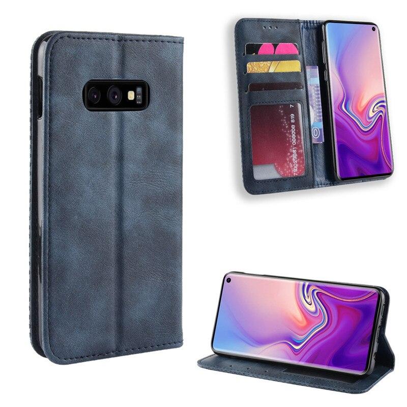 S10 E Flip Cover For Samsung Galaxy S10 Plus Case Wallet Card Stand Magnetic Cover For Samsung Galaxy S10E Phone Cases