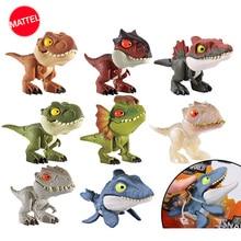 Mundo jurássico mini dedos dinossauro, figura de ação móvel, simulação, modelo, brinquedos para crianças, coleção, animado, figma