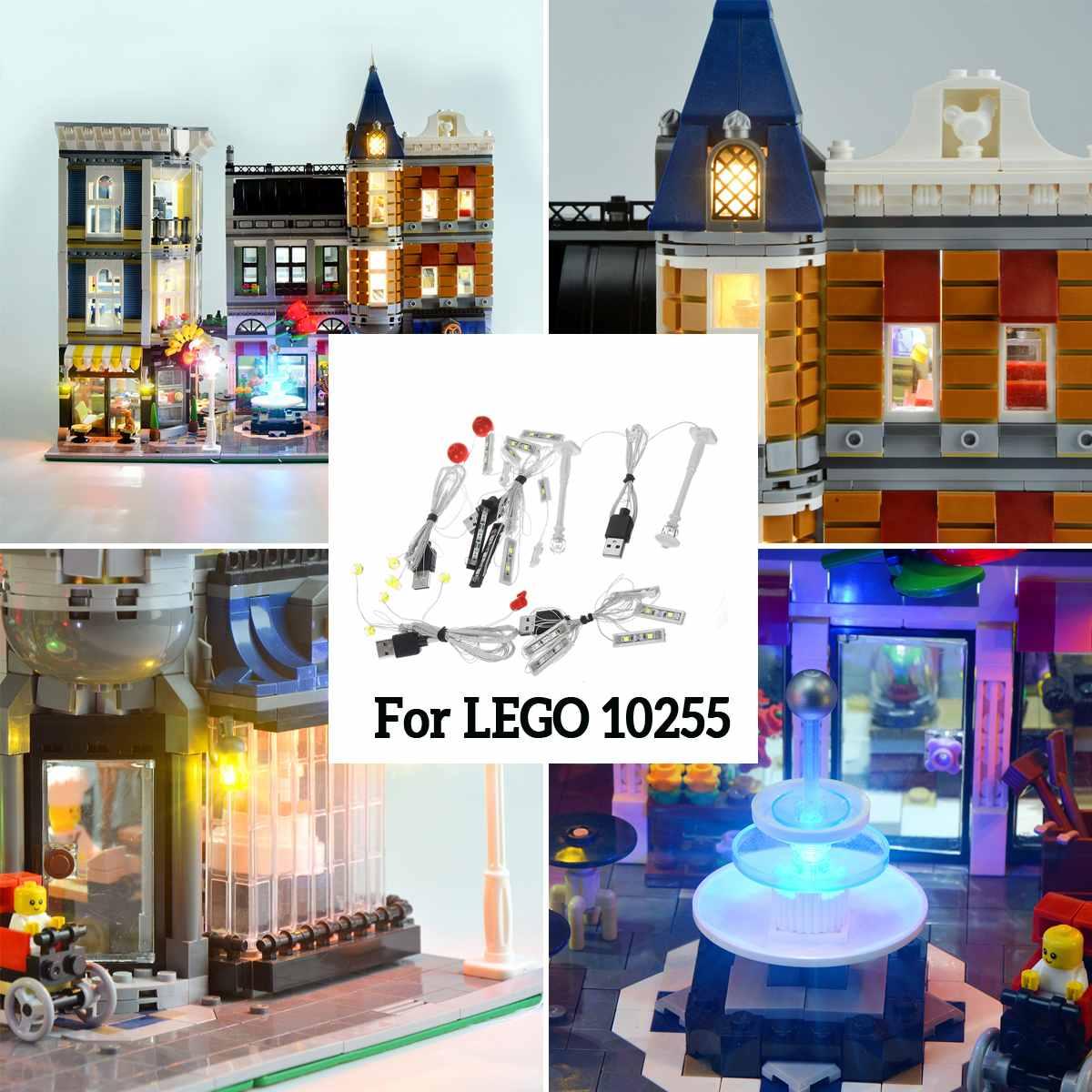 USB Powered LED Light Kit for Lego 10255 Assembly Square