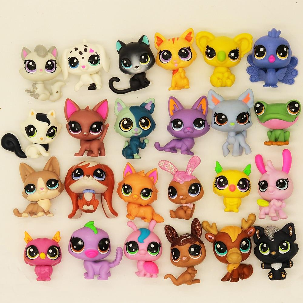 Купите 5 и получите 2 подарка, 3 см, старые игрушки для домашних животных, фигурки кошек и щенков, мини-фигурки, классические маленькие игрушки...