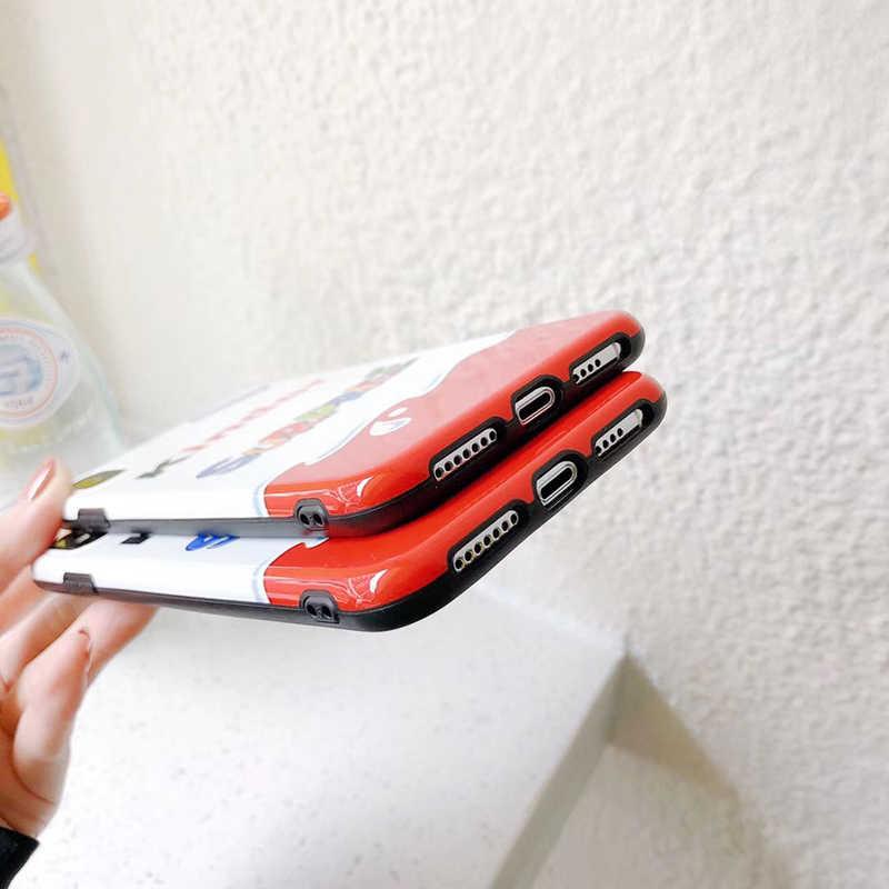 ใหม่รถเข็นไข่KINDER JOY SurpriseซิลิคอนกรณีสำหรับIphone 6 6S 11 Pro 7 Plus 8 X XS XRสูงสุด12 MiNiโทรศัพท์Coque Capa