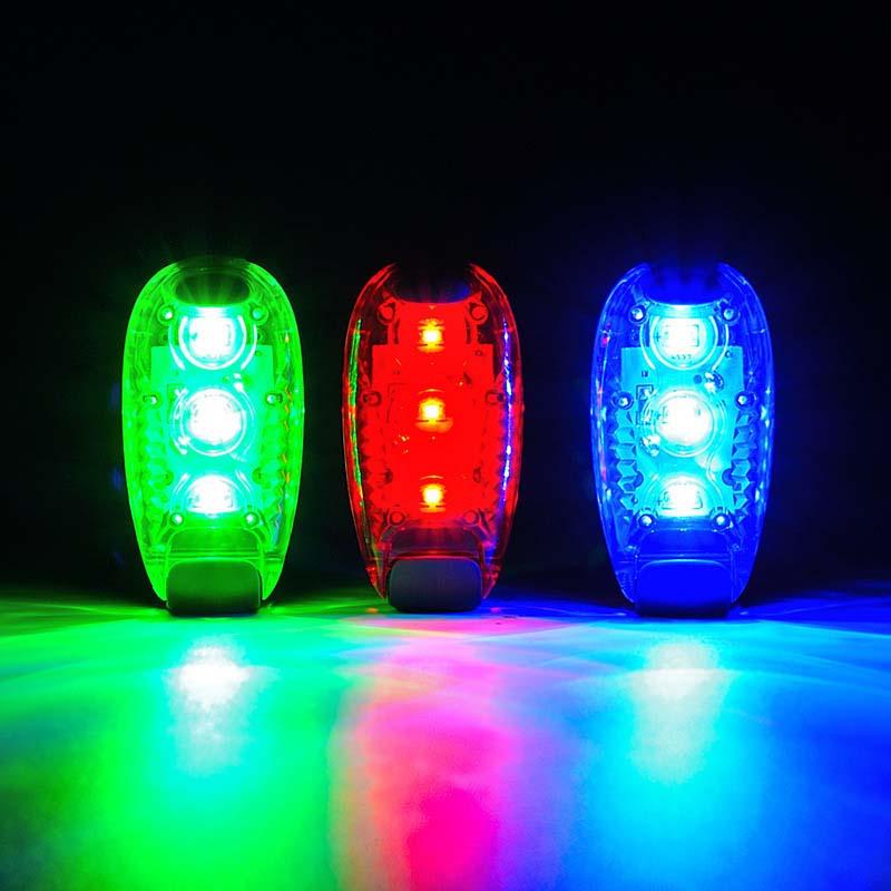 1pcs Pet tracker Led warning flash light Safety Light Strobe Lights for Night Running Walking Bike
