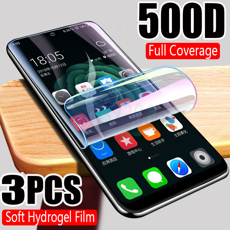 500D Full Cover Hydrogel Film For IPhone 11 Pro XR X XS MAX  Screen Protector For IPhone 6S 6 7 8 Plus Protective Film Not Glass
